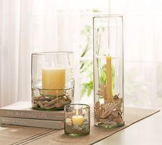 Glass Display Hurricanes, Small Pillar, $39