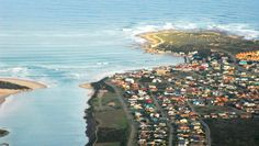 The town Still Bay [Stilbaai] on the south coast. Great for holidays, visits and retirement. Contact us at www.southernstaying.co.za Holiday Accommodation, Retirement, South Africa, Beautiful Places, Coast, Southern, Around The Worlds, River, Holidays