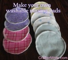 Cloth, reusable nursing pads.  A MUST have for baby.  Great DIY tutorial....#diy #washable #nursingpads #tutorial