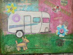 Vintage Camping Fun by thegeenieslampstudio on Etsy, $24.00