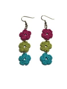 Ehi, ho trovato questa fantastica inserzione di Etsy su https://www.etsy.com/it/listing/189907441/crochet-earrings-long-earrings-small