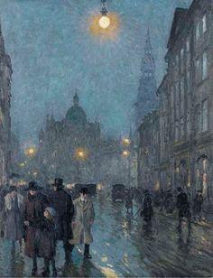 Paul Gustave Fischer - Evening, Copenhagen