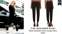 CL | ALEXANDER WANG Black Lambskin Trim Lounge Pants