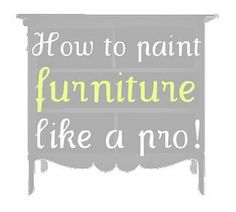 How to paint furniture like a pro! Step-by-step tutorial on how to spray paint furniture.
