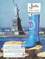 Justin Bicentennial Boots 1976 Ad Picture