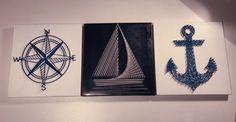 Nautical String Art Set of 3