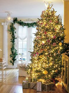 christmas decorating with sparkling white