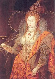 "Elizabeth I Queen of England. ""The Rainbow Portrait,"" by Issac Oliver ca. 1600."