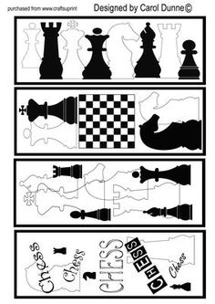Printable Bookmarks for Boys | Chess bookmarks by Carol Dunne