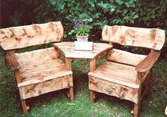 Rustic Bench Sets | Picnic Bench Seats | Tree Seats | Rustic Swing Seat - Rustic Garden Furniture