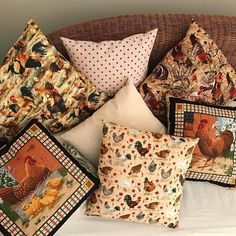 I've been busy making these Chicky cushions which remind me of farm childhood days .Available in the shop don't miss out limited stock #madewithlove #cushions #behomefree #makelight365 #makermade #makelightmakers