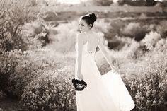 Black and white Desert Bridal Session in Peoria, Arizona by Franciose Photo
