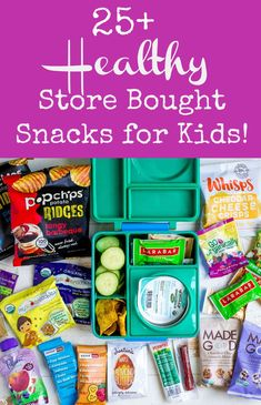 Healthy Store-Bought Snacks For Kids Looking for some lunchbox inspiration or snack ideas for kids? You'll love this round-up of healthy, store bought, on-the-go snacks! Healthy Packaged Snacks, Healthy Store Bought Snacks, Healthy Snacks To Buy, Healthy Toddler Snacks, On The Go Snacks, Healthy Kids, Toddler Meals, Kid Snacks, Healthy College Snacks