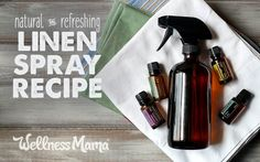Get that fresh laundry fix anytime with your own natural linen spray made from essential oils and ingredients from around the house. Homemade Cleaning Products, Natural Cleaning Products, Natural Products, Cleaning Recipes, Cleaning Diy, Green Cleaning, Cleaning Supplies, Diy Recipe, Essential Oils For Laundry