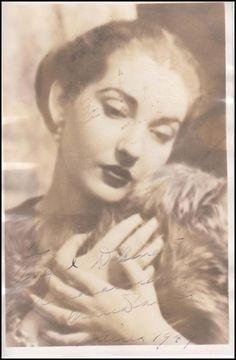 Maria Callas Signed 1949