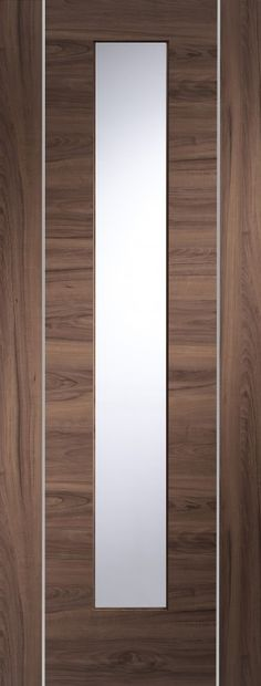 XL - PFGWALFOR30 Forli Pre-Finished Internal Walnut Door with Clear Glass