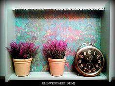 Caja reciclada # repisa decoración # elinventariodemj.blogspot.com.es