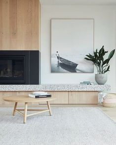 The Spotted Gum Tree House situated at Landcox St, Brighton East was designed by Merrylees Architect Home Living Room, Living Room Furniture, Living Room Designs, Living Room Decor, Living Room Artwork, Living Room Inspiration, Interior Inspiration, Design Inspiration, Design Ideas