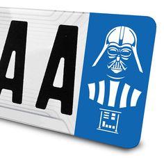 Sticker Dark Vador Star Wars pour plaques d'immatriculation