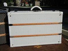 Pack in style with this GOYARD Palace Trunk 70 White Travel Suitcase
