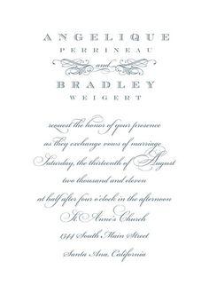 Pretty invitation