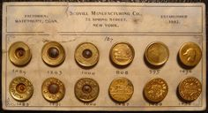 vintage buttons | the design morgue: Vintage Scovill Demin/Workwear Button Cards