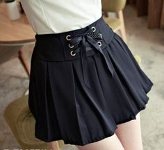 I found 'Drape Pure Color Fashion Lace-up Skirt Black' on Wish, check it out!