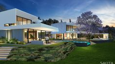 Situated on the slopes of Table mountain this Bishopscourt residence is comprised of a series of pavilions which draw one out to the panoramic...