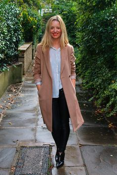 Joanne blogger at The Stylist and the Wardrobe wears our Wool Rich City Coat on the blog.