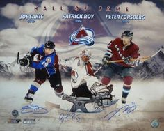 cee50a575 Colorado Avalanche Hall of Fame Autographed 16x20 w Joe Sakic