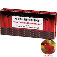 Assorted Jelly Beans Custom Movie Theater Candy Box, 3.5oz.
