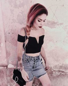 Staying Cool: Alternative Outfits At The Beach, Beach Outfits, Alternative Outfits for The Beach: Grunge style beachwear. Edgy Outfits, Casual Summer Outfits, Grunge Outfits, Grunge Fashion, Skirt Outfits, Curvy Fashion, Love Fashion, Beach Outfits, Fashion Spring