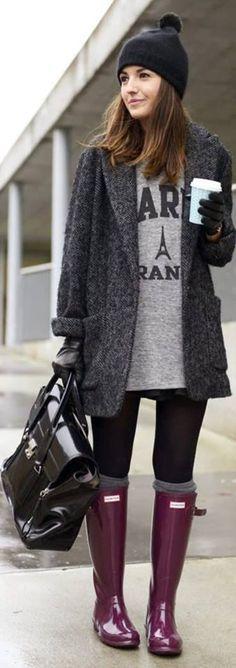 Plush Rainy Day Outfit Ideas for Fashion Faithful Women