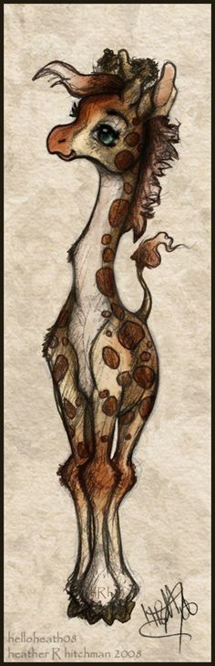 Baby Giraffe by helloheath.deviantart.com on @deviantART