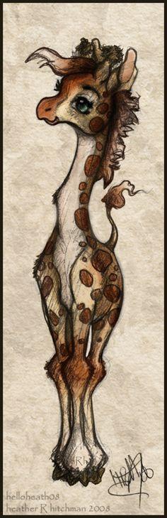 Baby Giraffe by helloheath.deviantart.com