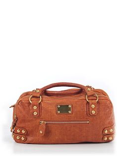 Linea Pelle Leather Satchel- love the studs! #preowned #luxeforless
