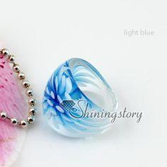 Flower inside Italian venetian lampwork blown murano glass finger rings jewelry jewellery cheap fashion jewelry-in Rings from Jewelry & Accessories on Aliexpress.com   Alibaba Group