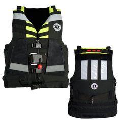 Mustang Universal Swift Water Rescue Vest - Fluorescent Yellow-Green/Black