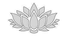 8 W String Art Lotus Flower Pattern / Template
