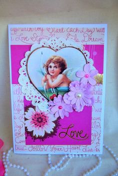 created for AlteredPages.com, see all the yummy collages and embellishments  LOVE, VALENTINE