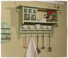 Regal, Küchenregal, Kästchen, Shabby, Landhausstil von UrliTrend auf DaWanda.com