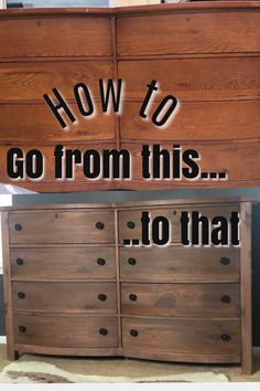 Staining Wood Furniture, Pine Furniture, Furniture Projects, Refurbished Dressers, Dresser Refinish, Wood Dresser, Diy Dresser Makeover, Furniture Makeover, Stained Dresser