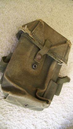 Vintage Khaki Military Field Bag Pouch 70s by JirjiMirji on Etsy, €22.30