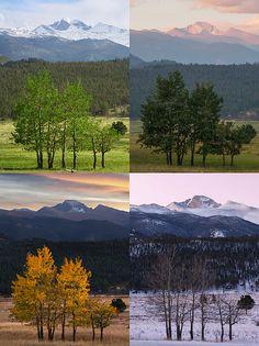 Four Seasons of Rocky Mountain National Park, Colorado - Mountain photography by Aaron Spong