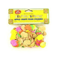 This 100 pack of apple foam stickers are perfect for scrap booking decorating journals or bulletin boards and are great...