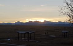 Sunset over the Rockies. Even without a lot of clouds it still somehow stays beautiful
