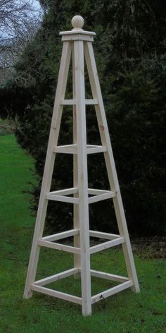 Knightsbridge – wooden-Garden-Obelisk - All About Garden Arbor, Garden Trellis, Potager Palettes, Obelisk Trellis, Wooden Garden Planters, Meadow Garden, Garden Structures, Garden Planning, Garden Projects