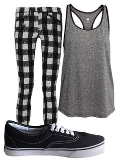 """""""Untitled #9899"""" by xxxlovexx ❤ liked on Polyvore featuring H&M, rag & bone and Vans"""