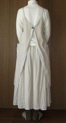 Linnen 2way schort jurk - geboren  Length (F.NP) = 98cm   Width = 92cm   around the hem = 162cm