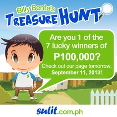Sulitizens, tomorrow is the big day!   7 winners of P100,000 will be announced tomorrow. Are you excited?  Stay tuned!